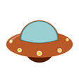 ufo spaceship cartoon vector image vector image