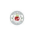 vegetables healthy food badge logo vector image vector image