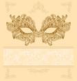 vintage background with venetian carnival mask vector image