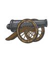 vintage cannon sketch vector image vector image