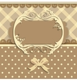 Vintage card on fabric background vector image vector image