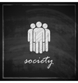 vintage with society symbol on blackboard vector image vector image