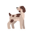 white dog with brown spots funny pet character vector image