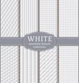 white geometric textures set vector image