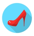 Woman high heel shoes flat icon vector image vector image
