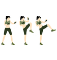 Young woman body combat and fitness vector image vector image