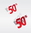 50 sale percents label vector image