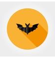Bat silhouette Halloween vector image