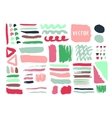 Bright hand drawn textures and brushes with ink vector image