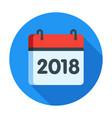 calendar for 2018 year icon vector image