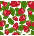 seamless strawberries pattern vector image