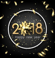2018 new year card with serpentine vector image vector image