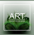 abstract tropical bushes tropical design vector image