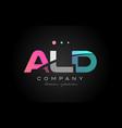 ald a l d three letter logo icon design vector image vector image