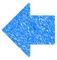 arrow left grunge icon vector image vector image