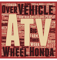 atv history text background wordcloud concept vector image vector image