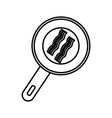 bacon stripes icon vector image vector image