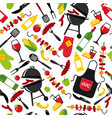 bbq party background on white background with vector image vector image