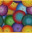bright japanese umbrella seamless pattern vector image