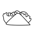 burrito mexican food vector image