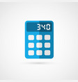 business concept with calculator icon vector image