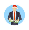 businessman with cash money businessman with cash vector image vector image