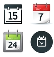 Calendar icons vector | Price: 3 Credits (USD $3)