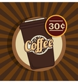 cartoon cup coffee design design vector image vector image