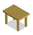 cartoon flat Table icon vector image vector image