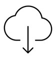 cloud download line icon minimal 96x96 pictogram vector image vector image