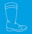 cowboy boot icon outline style vector image vector image