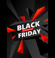 creative black friday sale inscription design vector image