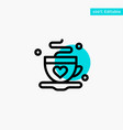 cup coffee tea love turquoise highlight circle vector image