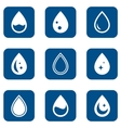 droplet icons set vector image vector image