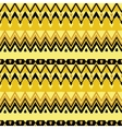 Ethnic zigzag pattern vector image vector image