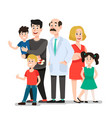 family doctor smiling happy patients family vector image vector image