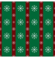 Floral snowflakes green red stripes Christmas vector image vector image