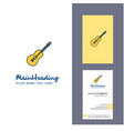 guitar creative logo and business card vertical vector image vector image