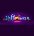 happy halloween party message pumpkin design vector image