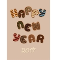 Happy New Year 2017 Chocolate Donuts vector image