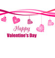 happy valentines day hanging hearts with a vector image vector image