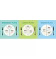 Healthy eating plate diagram vector image vector image