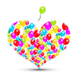 Heart Shape with Colorful Balloons Isolated on vector image vector image