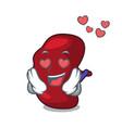 in love spleen mascot cartoon style vector image