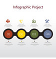 infographic element with icons and options vector image