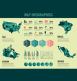 infographics elements set with collection maps of vector image vector image