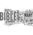 is the bible reliable text background word cloud vector image vector image