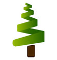 isolated christmas tree vector image vector image
