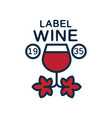 label of wine 1935 natural top quality product vector image vector image