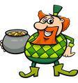 leprechaun with gold cartoon vector image vector image